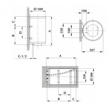 Elektrinis vandens šildytuvas Gorenje GBU 150 N 2