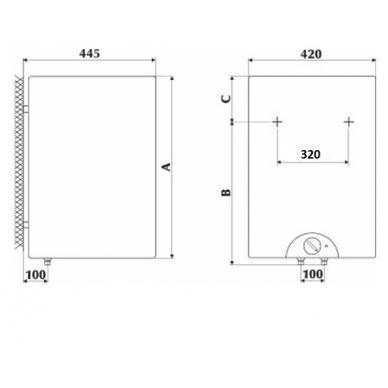 Elektrinis vandens šildytuvas Gorenje OTG 120 SLSIM, juodas 6