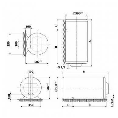 Elektrinis vandens šildytuvas Gorenje GB 30 OR 2