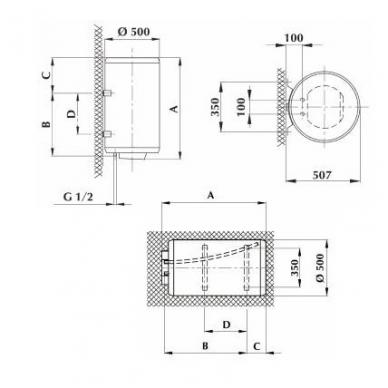 Elektrinis vandens šildytuvas Gorenje GBU 120 N 2
