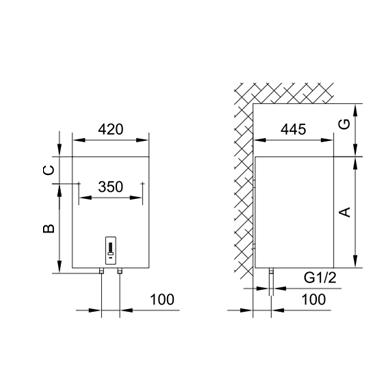 Elektrinis vandens šildytuvas Gorenje OGBS 100 OR 2
