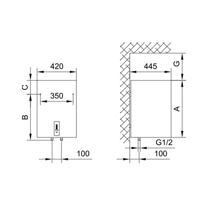 Elektrinis vandens šildytuvas Gorenje OGBS 50 OR 2
