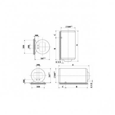 Elektrinis vandens šildytuvas Gorenje GB 120 N 2