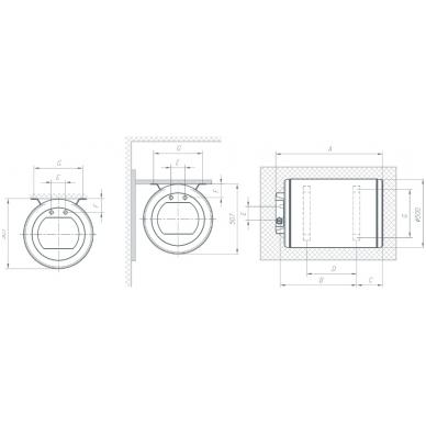 Elektrinis vandens šildytuvas Gorenje GBL 80 N 2