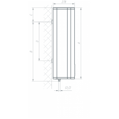 Elektrinis vandens šildytuvas Gorenje FTG 50 SM 6