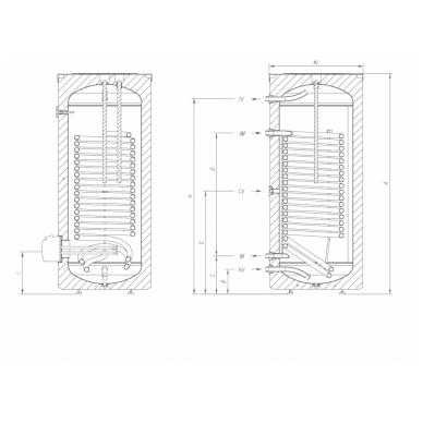 Kombinuotas pastatomas vandens šildytuvas Gorenje VLG 200A1-1G3 2