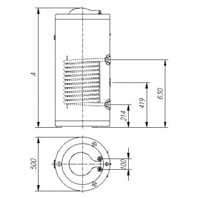 Pastatomas greitaeigis vandens šildytuvas Gorenje GV 100 3
