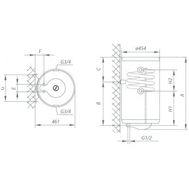 Kombinuotas vandens šildytuvas Gorenje TGRK 100 LN/RN 2