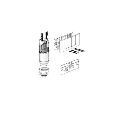 WC nuleidimo klavišo modernizacijos komplektas Friatec, Baltas 5